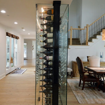 A Stylish and Safe Glass Home Wine Cellar in a Manhattan Beach