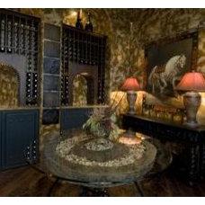 Mediterranean Wine Cellar by Fairmont Homes