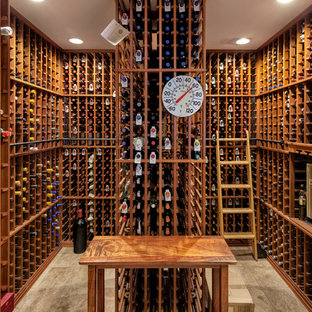 Example of a classic wine cellar design in Hawaii