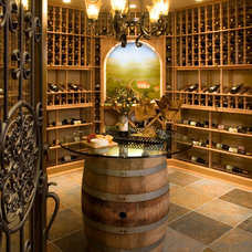 Traditional Wine Cellar by King's Court Builders, Inc.