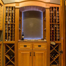 Traditional Wine Cellar by Rives Designers, LLC