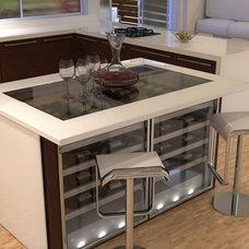 Contemporary Wine Cellar by VinMod USA