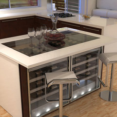 contemporary wine cellar by VinMod USA