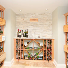 Traditional Wine Cellar by Realstone Systems