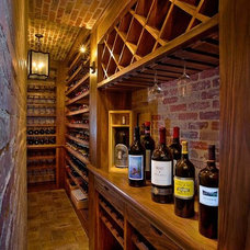 Traditional Wine Cellar by Denise Morrison Interiors