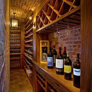 Inspiration för en vintage vinkällare