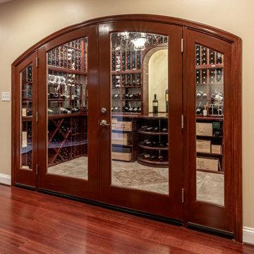 Amazing Basement Remodel, with Irresistible Wine Cellar in Ashburn VA