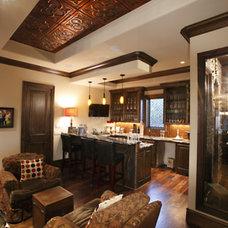 Traditional Wine Cellar by Cornerstone Homes by Chris Moock, LLC