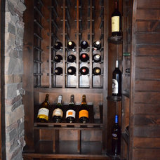 Traditional Wine Cellar by Cornerstone Homes by Chris Moock, LLC