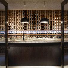 Mediterranean Wine Cellar by Amy Noel Design