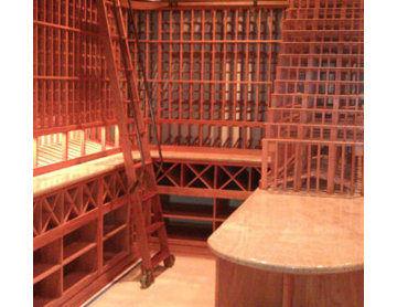 An 8' Tall Ladder Included for Ease of Custom Wine Rack CA Access