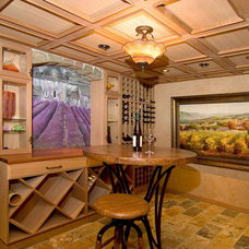 eclectic wine cellar by Mosby Building Arts