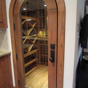 Wine cellar - traditional wine cellar idea in Dallas
