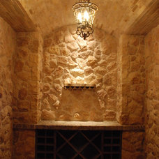 Mediterranean Wine Cellar by Neolithic Design Stone and Tile