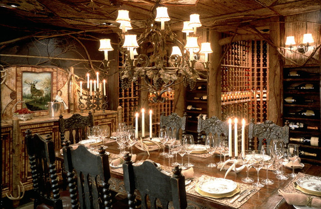 Traditional Wine Cellar by apexwinecellars.com