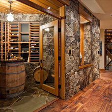 Contemporary Wine Cellar by The Interior Design Group