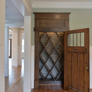 Inspiration for a craftsman wine cellar remodel in Houston