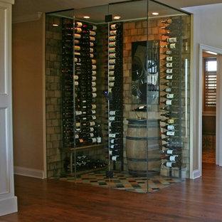 Eclectic wine cellar photo in Milwaukee