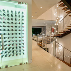Contemporary Wine Cellar by Structure Home