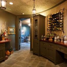 Traditional Wine Cellar by Morgan-Keefe Builders, Inc.