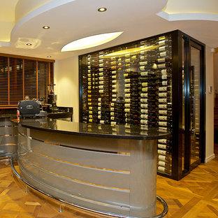 Exemple d'une cave à vin asiatique.