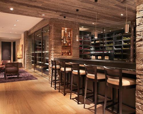 Wine Cellar Design Ideas Remodels amp Photos with Light Hardwood Floors