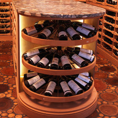 contemporary wine cellar by Revel Custom Wine Cellars