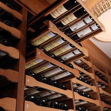 Contemporary Wine Cellar by Revel Custom Wine Cellars