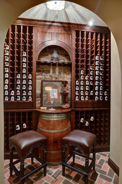 Traditional Wine Cellar by Home Expressions Interiors by Laura Bloom Inc.