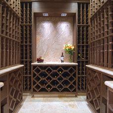 Traditional Wine Cellar by Marblex Design International, Inc.