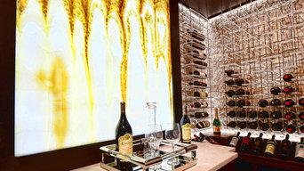 Backlit Onyx in an Atlanta Wine Cellars Custom Transitional Cellar
