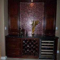 Contemporary Wine Cellar by Jill Seidner Interior Design