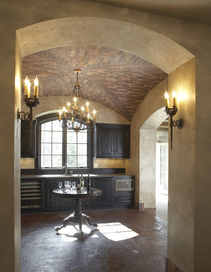 Traditional Wine Cellar by Hendel Homes