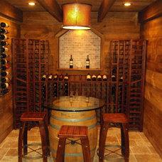 Traditional Wine Cellar by Edmund Terrence, LLC