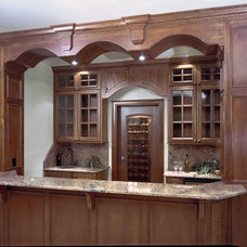 Traditional Wine Cellar by Beckony Kitchens & Baths