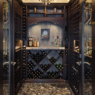 Photo of a classic wine cellar in Other with cube storage.