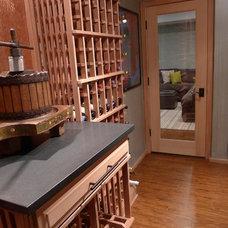 Contemporary Wine Cellar by Grande Interiors