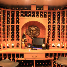Traditional Wine Cellar by Design Group Three