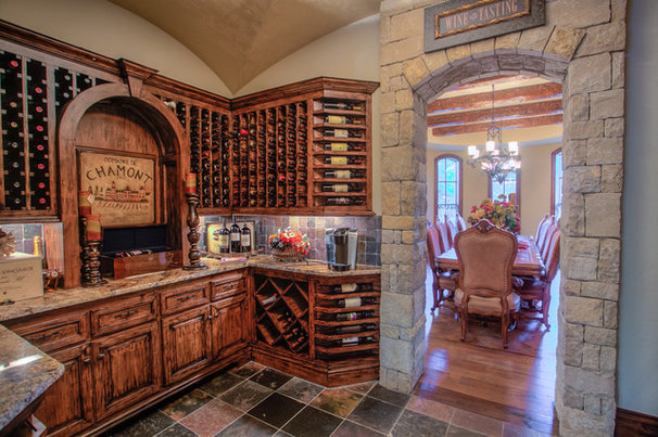 Rustic Wine Cellar by Brent Gibson Classic Home Design