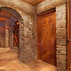 Traditional Wine Cellar by Erik Wyckoff Artworks
