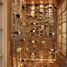 beach style wine cellar by Brandon Architects, Inc.