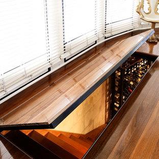 シドニーの中サイズのモダンスタイルのおしゃれなワインセラー (ワインラック) の写真