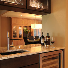 Transitional Wine Cellar by NWC Construction