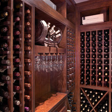 Traditional Wine Cellar by Doors For Builders Inc