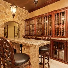 Traditional Wine Cellar by Barbara Gilbert Interiors