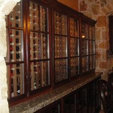 Mediterranean Wine Cellar by Barbara Gilbert Interiors