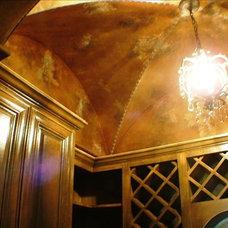 Mediterranean Wine Cellar by Bunker Hill Design