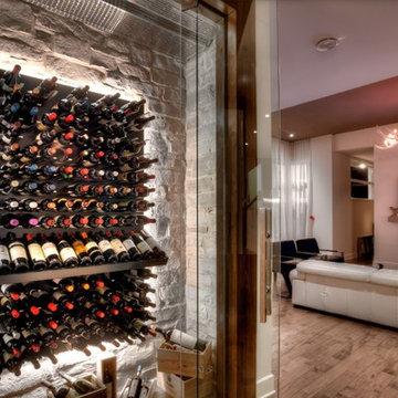Bel Air Los Angeles Custom Wine Cellar Glass Display Wine Room Wine Closet