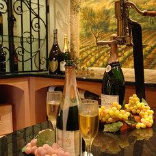 Eclectic Wine Cellar by Barenz Builders