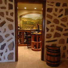 Mediterranean Wine Cellar by Barenz Builders